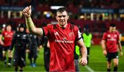 7 December 2019; Peter O'Mahony of Munster acknowledges supporters after the Heineken Champions Cup Pool 4 Round 3 match between Munster and Saracens at Thomond Park in Limerick. Photo by Brendan Moran/Sportsfile