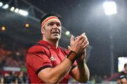 7 December 2019; Billy Holland of Munster acknowledges supporters after the Heineken Champions Cup Pool 4 Round 3 match between Munster and Saracens at Thomond Park in Limerick. Photo by Brendan Moran/Sportsfile