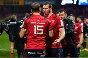 7 December 2019; Mike Haley and Chris Farrell of Munster, right, after the Heineken Champions Cup Pool 4 Round 3 match between Munster and Saracens at Thomond Park in Limerick. Photo by Brendan Moran/Sportsfile