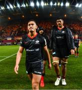 7 December 2019; Manu Vunipola and Will Skelton of Saracens after the Heineken Champions Cup Pool 4 Round 3 match between Munster and Saracens at Thomond Park in Limerick. Photo by Diarmuid Greene/Sportsfile
