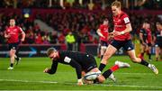 7 December 2019; Nick Isiekwe of Saracens knocks on short of the try line during the Heineken Champions Cup Pool 4 Round 3 match between Munster and Saracens at Thomond Park in Limerick. Photo by Brendan Moran/Sportsfile
