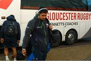 8 December 2019; Jarrad Butler of Connacht arrives ahead of the Heineken Champions Cup Pool 5 Round 3 match between Gloucester and Connacht at Kingsholm Stadium in Gloucester, England. Photo by Ramsey Cardy/Sportsfile