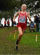 8 December 2019; Anna-Emilie Møller of Denmark on her way to winning the Women's U23 event during the European Cross Country Championships 2019 at Bela Vista Park in Lisbon, Portugal. Photo by Sam Barnes/Sportsfile