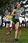 8 December 2019; Eilish Flanagan of Ireland competing in the Women's U23 event competing during the European Cross Country Championships 2019 at Bela Vista Park in Lisbon, Portugal. Photo by Sam Barnes/Sportsfile