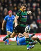 7 December 2019; Dan Biggar of Northampton Saints during the Heineken Champions Cup Pool 1 Round 3 match between Northampton Saints and Leinster at Franklins Gardens in Northampton, England. Photo by Ramsey Cardy/Sportsfile