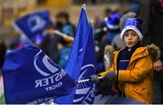 7 December 2019; A Leinster supporter during the Heineken Champions Cup Pool 1 Round 3 match between Northampton Saints and Leinster at Franklins Gardens in Northampton, England. Photo by Ramsey Cardy/Sportsfile
