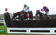 8 December 2019; Min, with Paul Townend up, jumps the last, on their way to winning during the John Durkan Memorial Punchestown Steeplechase at Punchestown Racecourse in Kildare. Photo by Harry Murphy/Sportsfile