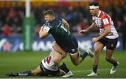8 December 2019; Peter Robb of Connacht is tackled by Franco Marais of Gloucester during the Heineken Champions Cup Pool 5 Round 3 match between Gloucester and Connacht at Kingsholm Stadium in Gloucester, England. Photo by Ramsey Cardy/Sportsfile