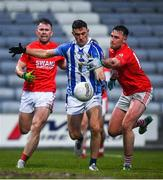 8 December 2019; Colm Basquel of Ballyboden St Endas in action against Eoghan Ruth of Éire Óg during the AIB Leinster GAA Football Senior Club Championship Final between Eire Óg Carlow and Ballyboden St. Enda's GAA at MW Hire O'Moore Park in Portlaoise, Co. Laois. Photo by David Fitzgerald/Sportsfile