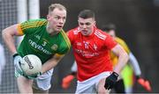 8 December 2019; Brian Conlon of Meath in action against Conall McKeever of Louth during the 2020 O'Byrne Cup Round 1 match between Meath and Louth at Páirc Tailteann in Navan, Co Meath. Photo by Piaras Ó Mídheach/Sportsfile