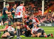 8 December 2019; Dominic Robertson-McCoy of Connacht scores his side's second try during the Heineken Champions Cup Pool 5 Round 3 match between Gloucester and Connacht at Kingsholm Stadium in Gloucester, England. Photo by Ramsey Cardy/Sportsfile