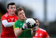 8 December 2019; Oisin O'Brien of Meath in action against Dan Corcoran of Louth during the 2020 O'Byrne Cup Round 1 match between Meath and Louth at Páirc Tailteann in Navan, Co Meath. Photo by Piaras Ó Mídheach/Sportsfile