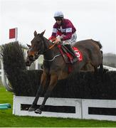 8 December 2019; Shattered Love with Jack Kennedy up, jump the fourth during the John Durkan Memorial Punchestown Steeplechase at Punchestown Racecourse in Kildare. Photo by Harry Murphy/Sportsfile