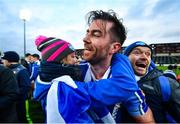 8 December 2019; Michael Darragh Macauley of Ballyboden St Endas is congratulated by supporters following the AIB Leinster GAA Football Senior Club Championship Final between Eire Óg Carlow and Ballyboden St. Enda's GAA at MW Hire O'Moore Park in Portlaoise, Co. Laois. Photo by David Fitzgerald/Sportsfile