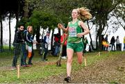 8 December 2019; Mary Mulhare of Ireland competing in the Senior Women's event during the European Cross Country Championships 2019 at Bela Vista Park in Lisbon, Portugal. Photo by Sam Barnes/Sportsfile