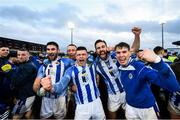8 December 2019; James Holland of Ballyboden St Endas, centre, Shane Clayton, left, Sean Gibbons, right, and fellow team-mates celebrate following the AIB Leinster GAA Football Senior Club Championship Final between Eire Óg Carlow and Ballyboden St. Enda's GAA at MW Hire O'Moore Park in Portlaoise, Co. Laois. Photo by David Fitzgerald/Sportsfile