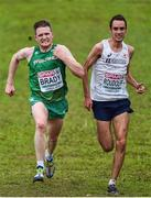 8 December 2019; Liam Brady of Ireland, left, and Emmanuel Roudolff Levisse of France competing in the Senior Men's event during the European Cross Country Championships 2019 at Bela Vista Park in Lisbon, Portugal. Photo by Sam Barnes/Sportsfile