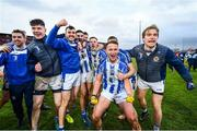 8 December 2019; Ballyboden St Endas players celebrate following the AIB Leinster GAA Football Senior Club Championship Final between Eire Óg Carlow and Ballyboden St. Enda's GAA at MW Hire O'Moore Park in Portlaoise, Co. Laois. Photo by David Fitzgerald/Sportsfile