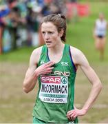 8 December 2019; Fionnuala McCormack of Ireland after finishing fourth in the Senior Women's event during the European Cross Country Championships 2019 at Bela Vista Park in Lisbon, Portugal. Photo by Sam Barnes/Sportsfile