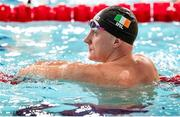 8 December 2019; Shane Ryan of Ireland after competing in the final of the Men's 50m Backstroke during day five of the European Short Course Swimming Championships 2019 at Tollcross International Swimming Centre in Glasgow, Scotland. Photo by Joseph Kleindl/Sportsfile