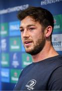 9 December 2019; Caelan Doris during a Leinster Rugby Press Conference at Leinster Rugby Headquarters in Belfield, Dublin. Photo by Ramsey Cardy/Sportsfile