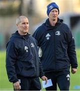 9 December 2019; Senior coach Stuart Lancaster, left, and head coach Leo Cullen during Leinster Rugby squad training at Energia Park in Donnybrook, Dublin. Photo by Ramsey Cardy/Sportsfile