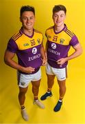 9 December 2019; Zurich begin sponsorship of Wexford GAA with launch of new jersey. Pictured are Wexford hurlers Lee Chin, left, and Conor McDonald at Zurich Insurance in Drinagh, Co. Wexford. Photo by Eóin Noonan/Sportsfile