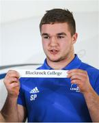 9 December 2019; Scott Penny of Leinster draws Blackrock College during the 2020 Bank of Ireland Leinster Rugby Schools Cup First Round Draw at Bank of Ireland in Ballsbridge, Dublin. Photo by Ramsey Cardy/Sportsfile