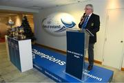 9 December 2019; Leinster Rugby President Robert Deacon during the 2020 Bank of Ireland Leinster Rugby Schools Cup First Round Draw at Bank of Ireland in Ballsbridge, Dublin. Photo by Ramsey Cardy/Sportsfile
