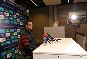10 December 2019; Munster head coach Johann van Graan during a Munster Rugby Press Conference at University of Limerick in Limerick. Photo by Matt Browne/Sportsfile