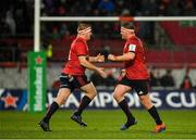 7 December 2019; Stephen Archer of Munster, right, is replaced by team-mate John Ryan during the Heineken Champions Cup Pool 4 Round 3 match between Munster and Saracens at Thomond Park in Limerick. Photo by Seb Daly/Sportsfile