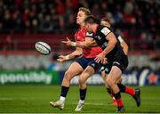 7 December 2019; Mike Haley of Munster in action against Matt Gallagher of Saracens during the Heineken Champions Cup Pool 4 Round 3 match between Munster and Saracens at Thomond Park in Limerick. Photo by Seb Daly/Sportsfile