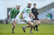 1 December 2019; Michael Fennelly of Ballyhale Shamrocks in action against Jason O'Neill of St Mullin's during the AIB Leinster GAA Hurling Senior Club Championship Final match between Ballyhale Shamrocks and St Mullin's at O'Moore Park in Portlaoise, Laois. Photo by Piaras Ó Mídheach/Sportsfile