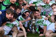 1 December 2019; Ballyhale Shamrocks players celebrate with the cup after the AIB Leinster GAA Hurling Senior Club Championship Final match between Ballyhale Shamrocks and St Mullin's at MW Hire O'Moore Park in Portlaoise, Co Laois. Photo by Piaras Ó Mídheach/Sportsfile
