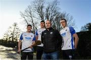 11 December 2019; TQS Integration announced their sponsorship of Waterford GAA for 2020 at TQS Integration Systems in Lismore, Waterford. In attendance is Waterford hurling team manager Liam Cahill with from left Waterford players Conor Gleeson, Conor Prunty and Kieran Bennett.  Photo by Matt Browne/Sportsfile