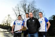 11 December 2019; TQS Integration announced their sponsorship of Waterford GAA for 2020 at TQS Integration Systems in Lismore, Waterford. In attendance is Waterford hurling team manager Liam Cahill, with, from left, Waterford players Conor Gleeson, Conor Prunty and Kieran Bennett. Photo by Matt Browne/Sportsfile