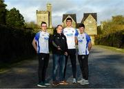 11 December 2019; TQS Integration announced their sponsorship of Waterford GAA for 2020 at TQS Integration Systems in Lismore, Waterford. In attendance is Waterford hurling team manager Liam Cahill with, from left, Waterford players Kieran Bennett, Conor Prunty and Conor Gleeson.  Photo by Matt Browne/Sportsfile