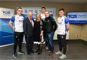 11 December 2019; TQS Integration announced their sponsorship of Waterford GAA for 2020 at TQS Integration Systems in Lismore, Waterford. In attendance is Maire Quilty, Corporate Managing Director of TQS, with Waterford GAA chairman Paddy Joe Ryan, Waterford hurling team manager Liam Cahill and, from left, Waterford players Kieran Bennett, Conor Prunty and Conor Gleeson. Photo by Matt Browne/Sportsfile