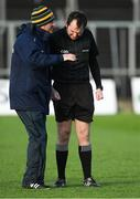 8 December 2019; Referee Gary Hurley talks with Meath manager Andy McEntee before the 2020 O'Byrne Cup Round 1 match between Meath and Louth at Páirc Tailteann in Navan, Co Meath. Photo by Piaras Ó Mídheach/Sportsfile