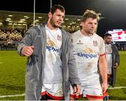7 December 2019; Marcell Coetzee and Jordi Murphy of Ulster after the Heineken Champions Cup Pool 3 Round 3 match between Ulster and Harlequins at Kingspan Stadium in Belfast. Photo by Oliver McVeigh/Sportsfile