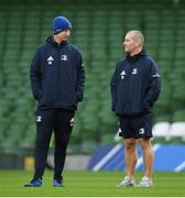 13 December 2019; Head coach Leo Cullen, left, and Senior coach Stuart Lancaster during the Leinster Rugby captain's run at the Aviva Stadium in Dublin. Photo by Ramsey Cardy/Sportsfile