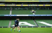 13 December 2019; Jordan Larmour during the Leinster Rugby captain's run at the Aviva Stadium in Dublin. Photo by Ramsey Cardy/Sportsfile