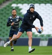 13 December 2019; Ross Byrne, right, and Jamison Gibson-Park during the Leinster Rugby captain's run at the Aviva Stadium in Dublin. Photo by Ramsey Cardy/Sportsfile