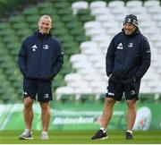 13 December 2019; Senior coach Stuart Lancaster, left, and Scrum coach Robin McBryde during the Leinster Rugby captain's run at the Aviva Stadium in Dublin. Photo by Ramsey Cardy/Sportsfile