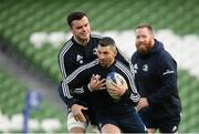 13 December 2019; Rob Kearney, left, and James Ryan during the Leinster Rugby captain's run at the Aviva Stadium in Dublin. Photo by Ramsey Cardy/Sportsfile