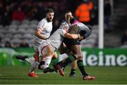 13 December 2019; Vereniki Goneva of Harlequins is tackled by Luke Marshall of Ulster during the Heineken Champions Cup Pool 3 Round 4 match between Harlequins and Ulster at Twickenham Stoop in London, England. Photo by Seb Daly/Sportsfile