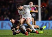 13 December 2019; Ross Chisholm of Harlequins in action against Stuart McCloskey of Ulster during the Heineken Champions Cup Pool 3 Round 4 match between Harlequins and Ulster at Twickenham Stoop in London, England. Photo by Seb Daly/Sportsfile