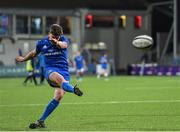 13 December 2019; Tim Corkery of Leinster A kicks a conversion during the Interprovincial match between Leinster A and Munster A at Energia Park in Donnybrook, Dublin. Photo by Matt Browne/Sportsfile