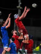 13 December 2019; Sean O'Connor of Munster A wins possession in a lineout against Brian Deeny of Leinster A during the Interprovincial match between Leinster A and Munster A at Energia Park in Donnybrook, Dublin. Photo by Matt Browne/Sportsfile