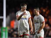 13 December 2019; Iain Henderson, left, and John Cooney of Ulster in conversation during the Heineken Champions Cup Pool 3 Round 4 match between Harlequins and Ulster at Twickenham Stoop in London, England. Photo by Seb Daly/Sportsfile